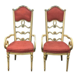 Pair of Antique Mikel Company French Country Dining Chairs