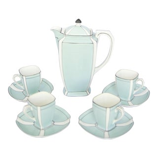 1920's Art Deco Japanese Porcelain Noritake Demi Tasse Coffee Set