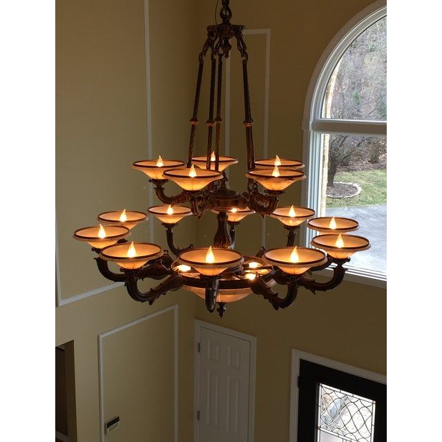 Turin Family Bowl Chandelier - Image 3 of 5