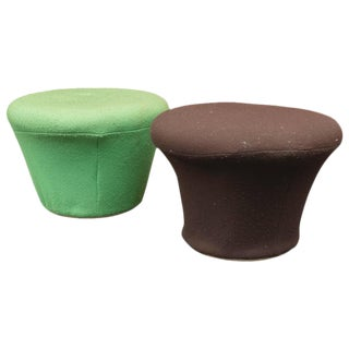 Pierre Paulin for Artifort Mushroom Ottomans - A Pair