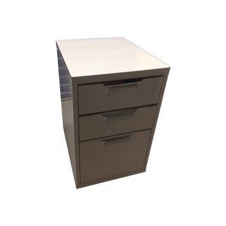 CB2 White Filing Cabinet