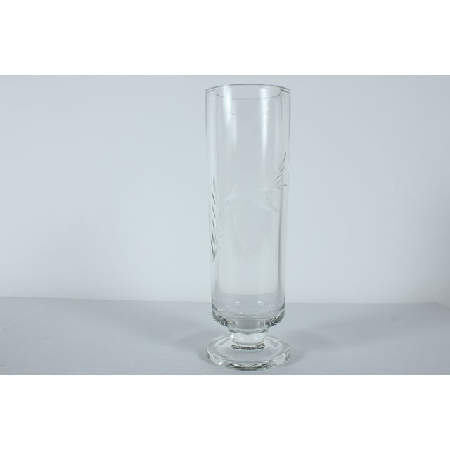 Hummingbird Etched Glass Vase - Image 2 of 4