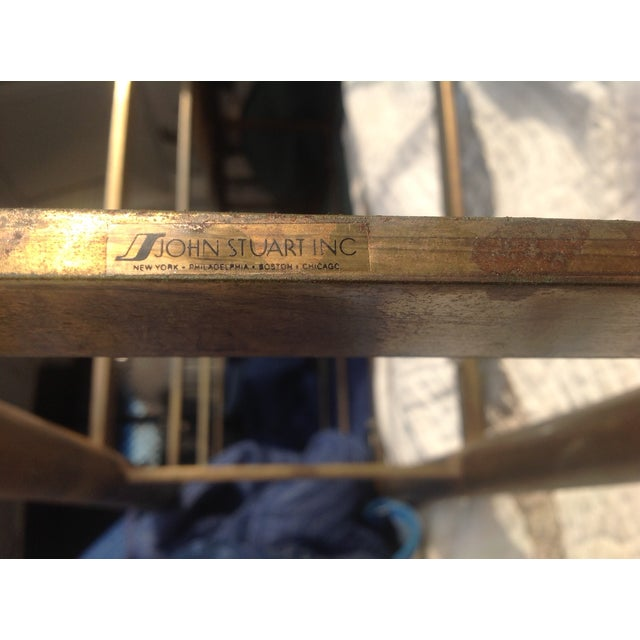 Image of John Stuart Brass Glass Bookcase Etagere