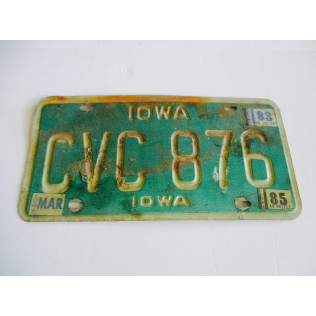 Vintage Iowa License Plate 1983 Car Auto Boho Industrial Glam Art Wall Decor - Image 2 of 3