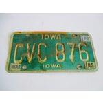 Image of Vintage Iowa License Plate 1983 Car Auto Boho Industrial Glam Art Wall Decor