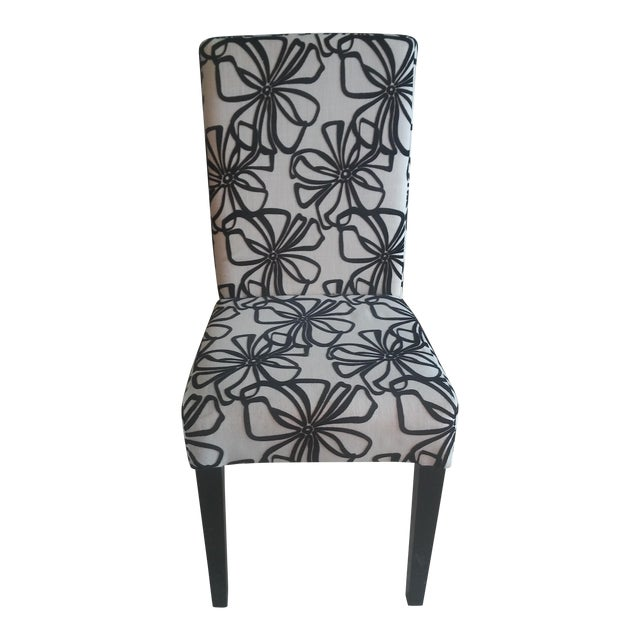 Black & White Parsons Dining Chairs - Set of 6 - Image 1 of 7