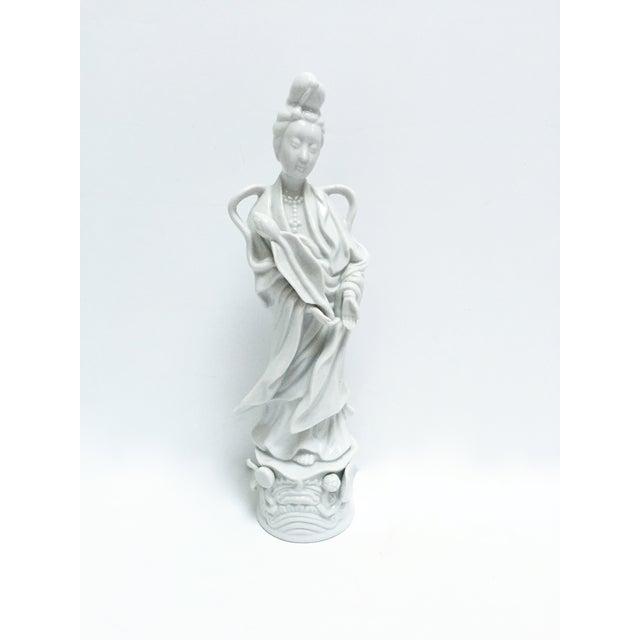 Image of Mid-Century Blanc De Chine Figurine of Kwan Yin