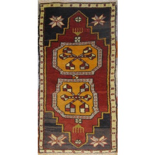 Vintage Turkish Rug - 1′6″ × 2′10″