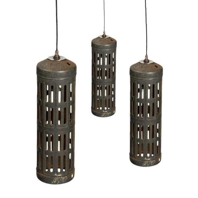Industrial Cylinder Pendant Light Set Of 3