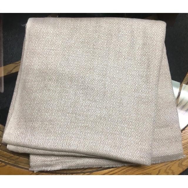 Diamond Design Cashmere Blend Blanket - Image 5 of 9