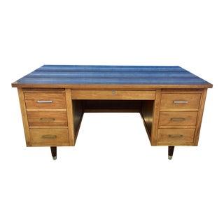 Refinished Vintage Wooden Tanker Desk