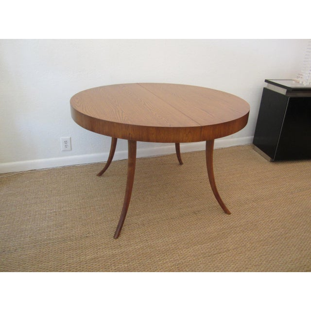 Robsjohn-Gibbings Walnut Extension Dining Table - Image 5 of 7