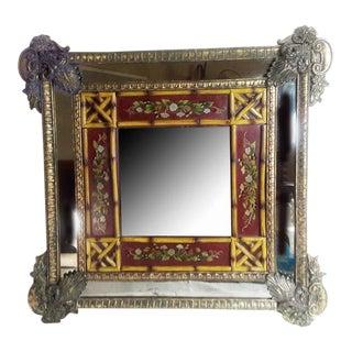 Art Nouveau Euro-Asian Wall Mirror