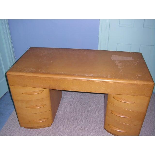 Heywood Wakefield Keyhole Desk & Chair - Image 5 of 11