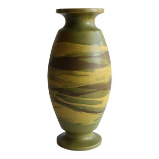Haeger Earth Wrap Vase in Green