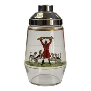 Frank Vosmansky Signed Fox Glass Cocktail Shaker