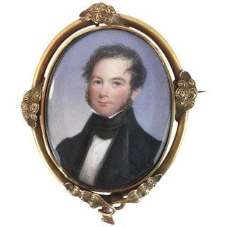19th-Century Miniature Portrait of a Gentleman