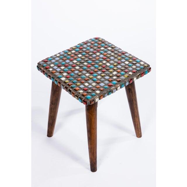 Tiled Teak Side Tables - A Pair - Image 5 of 6