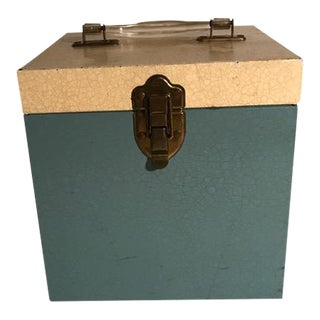 Vintage Metal 45 Record Box