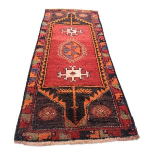 "Vintage Turkish Oushak Tribal Rug- 1'7"" x 4'2"""