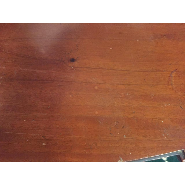 Antique Mahogany Demi-lune Table - Image 8 of 9