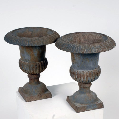 Antique French Cast Iron Planters - Pair - Image 2 of 3