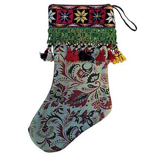 Indian Kantha Quilt Christmas Stocking