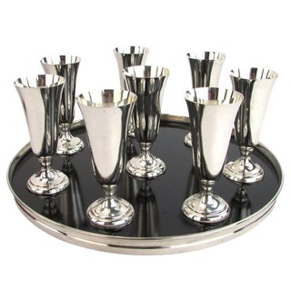 Sterling Silver Drink Set - Set of 8