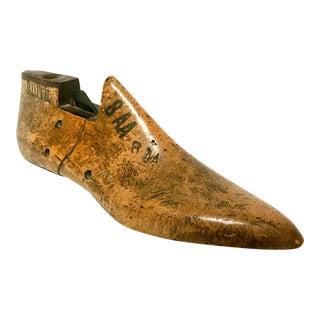 Vintage Wood & Metal Shoe Form