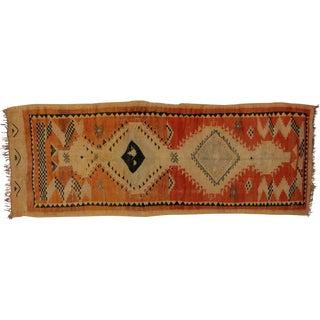 Vintage Berber Moroccan Carpet Runner, 4'6 x 12'