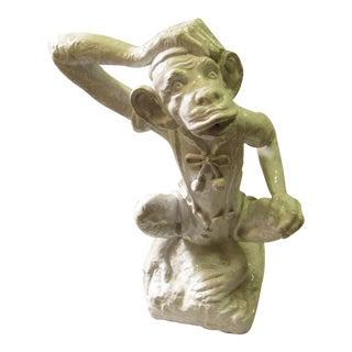 Vintage Italian Monkey Ceramic Statue