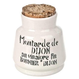 Vintage French Dijon Mustard Crock
