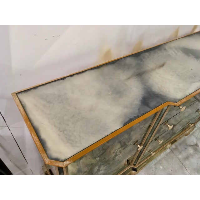 1950s Mirrored Chinoiserie Credenza - Image 3 of 10