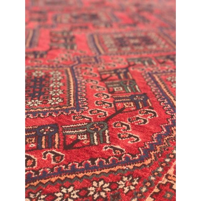 "Vintage Persian Yalameh Area Rug - 7'8"" x 9'7"" - Image 7 of 11"