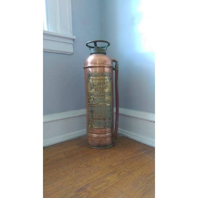 """Image of Vintage """"Alert"""" Copper Fire Extinguisher"""