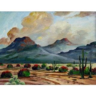 Mountains & Desert Oil Landscape Painting