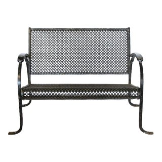 Stylish Midcentury Garden Bench