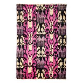 """Contemporary Ikat Hand-Knotted Rug - 4'3"""" X 6'4"""""""