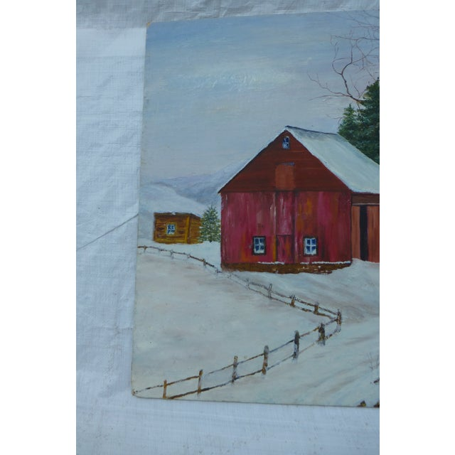 The Old Red Barn Painting by H.L. Musgrave - Image 3 of 6