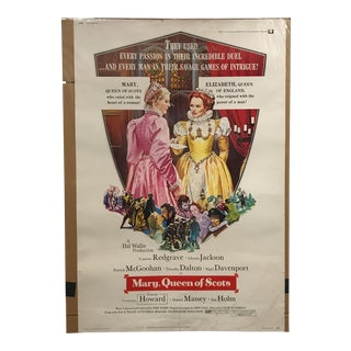 "Universal ""Mary, Queen of Scots"" Vintage Movie Poster"