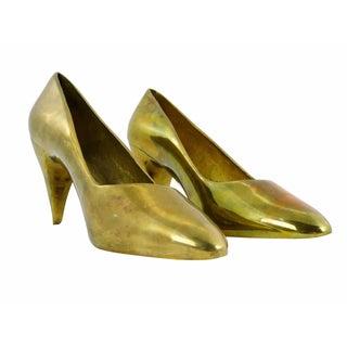 Brass High Heel Stilettos - Pair