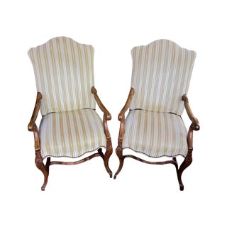 Spanish Colonial Style Colibri Arm Chairs - Pair