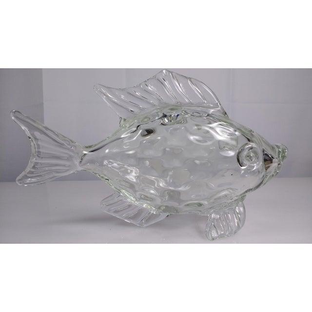 Large hand blown murano art glass fish chairish for Blown glass fish