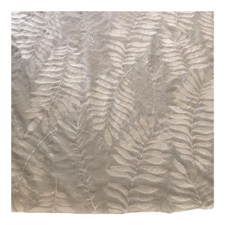 Grey Embroidered Linen Fabric - 3 1/2 Yds.
