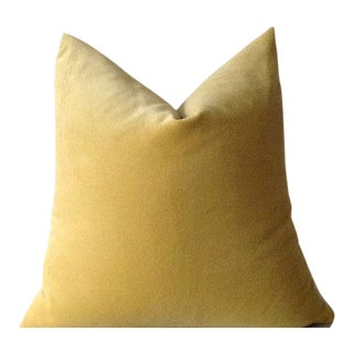 Sunshine Yellow Velvet Pillow Cover
