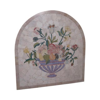 Italian Pietra Dura Onyx Marble Inlaid Wall Plaque