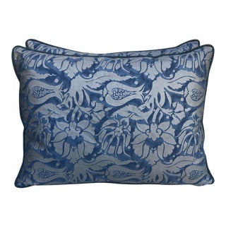 Malagra Patterned Fortuny Pillows - A Pair