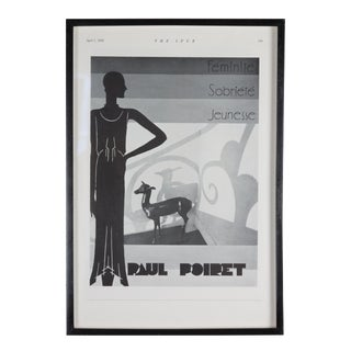 Paul Poiret Printed Advertisement
