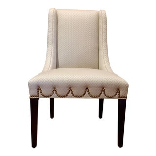 Brass Nailhead Dining Chair