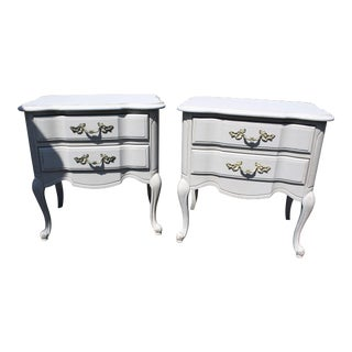 Grey French Nightstands - A Pair